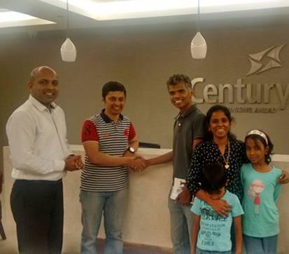 Century Sports Village Plot - Edwin Rajan - Nitin (Century Sales), Srinidhi (Homz N Space)