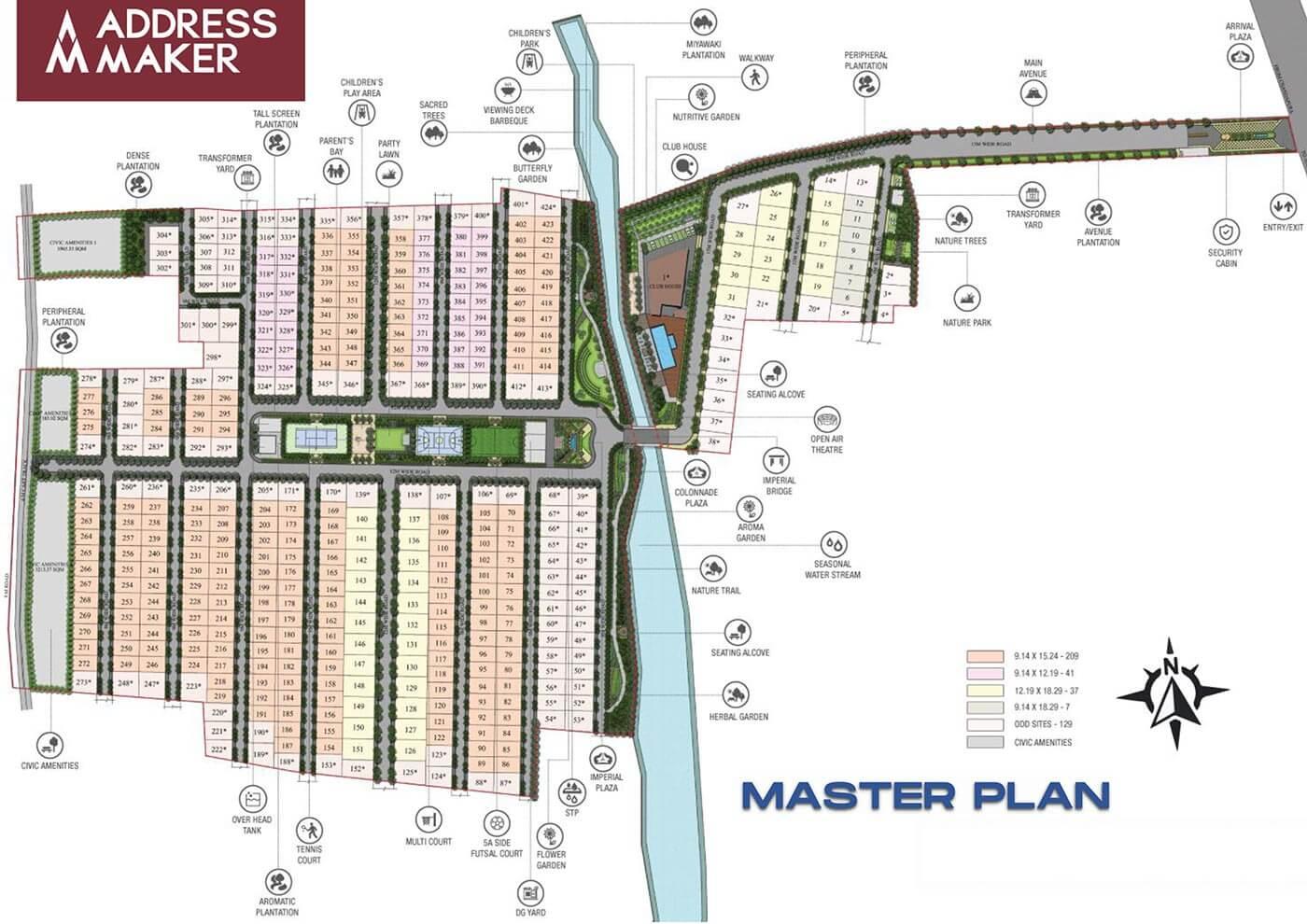 Master Plan - The Imperial Address Chandapura Plots
