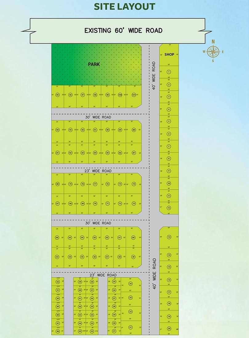 Site Layout Plan - Akshaya Poongavanam